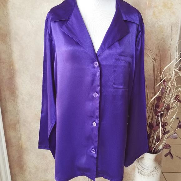 5f31788aba Victoria s Secret Purple Satin Sleep Shirt